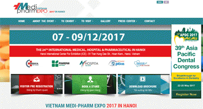 THE 24th INTERNATIONAL MEDICAL, HOSPITAL & PHARMACEUTICAL EXHIBITION IN HANOI, VIETNAM (VIETNAM MEDI-PHARM EXPO 2017 IN HANOI)