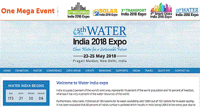 5th Water India 2018 Expo