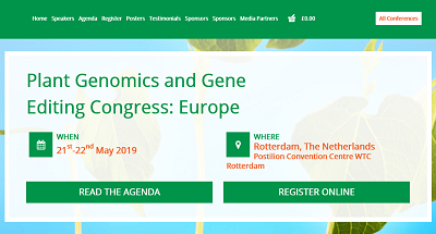 Plant Genomics and Gene Editing Congress: Europe