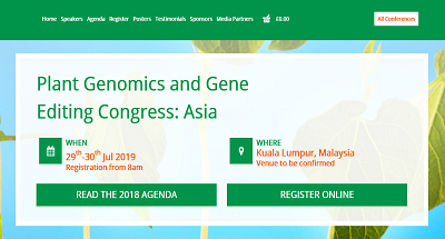 6th Plant Genomics and Gene Editing Congress: Asia 2019