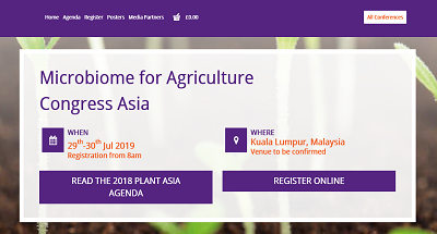 Microbiome for Agriculture Congress Asia 2019